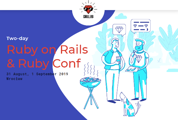 31.08-1.09.2019 Konferencja Ruby on Rails & Ruby Conf 2019 Wrocław